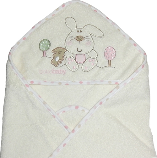 Baby Badetuch_beige_rosa_Hase_gross1